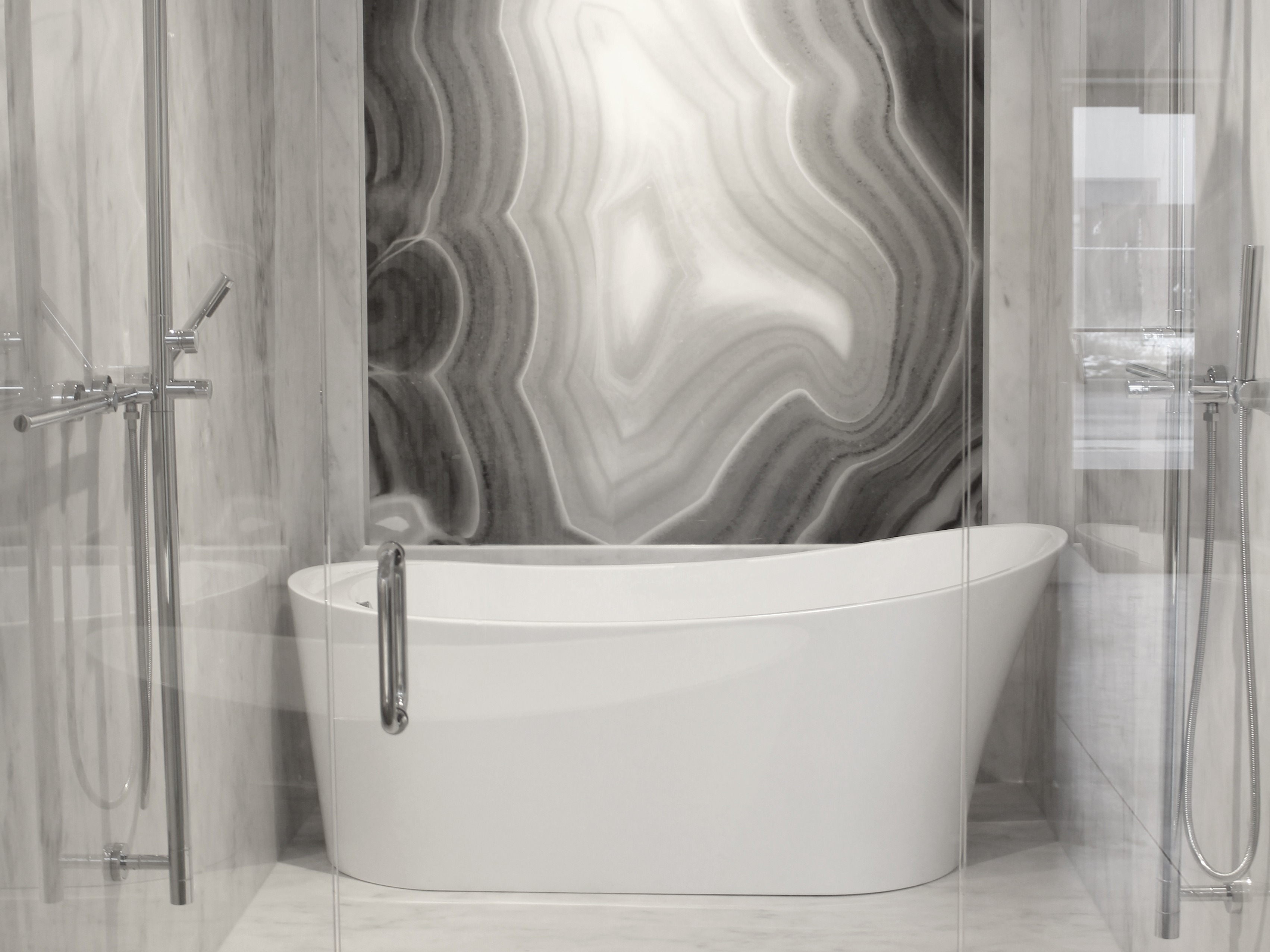marble shower gallery cultured inlays tile pictures bath precision